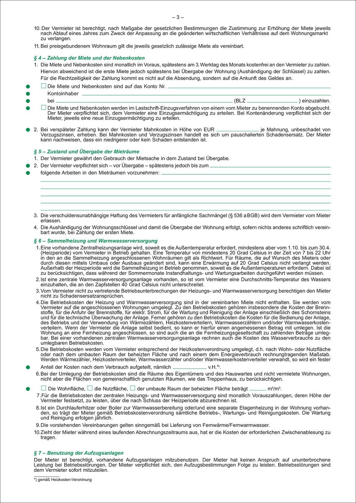 Rnk Verlag 525 Mietvertrag Für Wohnungen Ausführliche Fassung 6