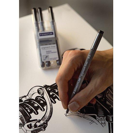 schwarz 0,05 mm STAEDTLER 308 005-9 Feinschreiber pigment liner
