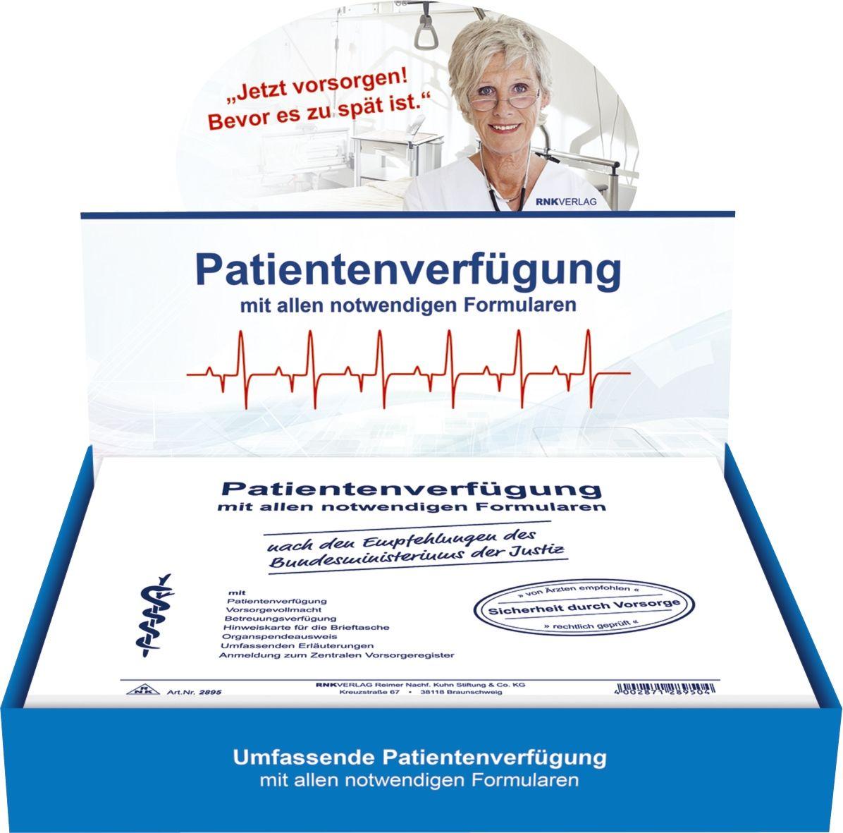 RNK Verlag 2895 Patientenverfügung mit allen notwendigen Formularen ...