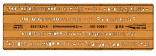 Standardgraph Isonorm-Schriftschablone 2521