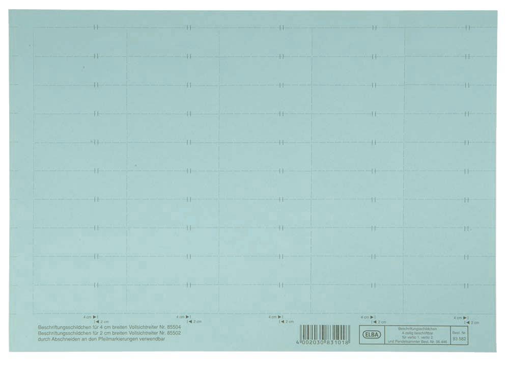 Elba 100552045 vertic® Beschriftungsschild für Registratur, 58 x 18 ...