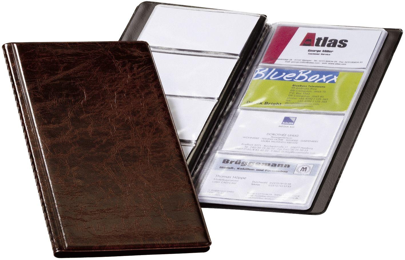 Durable 238011 Visitenkartenbuch Visifix 96 115 X 253 Mm Braun