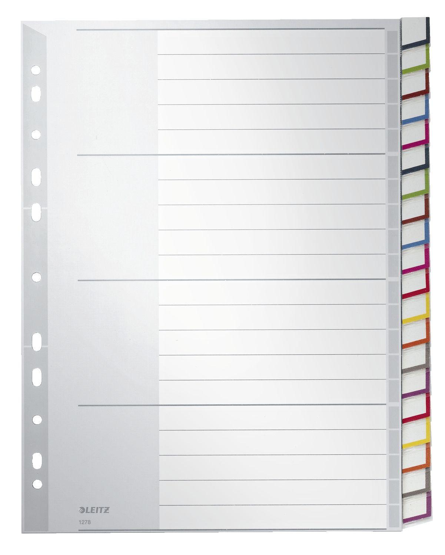 farbig Leitz Kartonregister Blanko, A4, Karton, 10 Blatt, Blisterverpackung