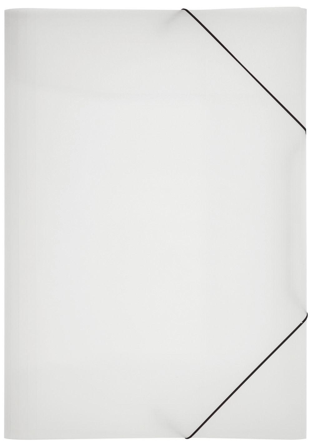 5x Eckspannmappen A3 Eckspanner Sammelmappen PP Kunststoff schwarz transparent