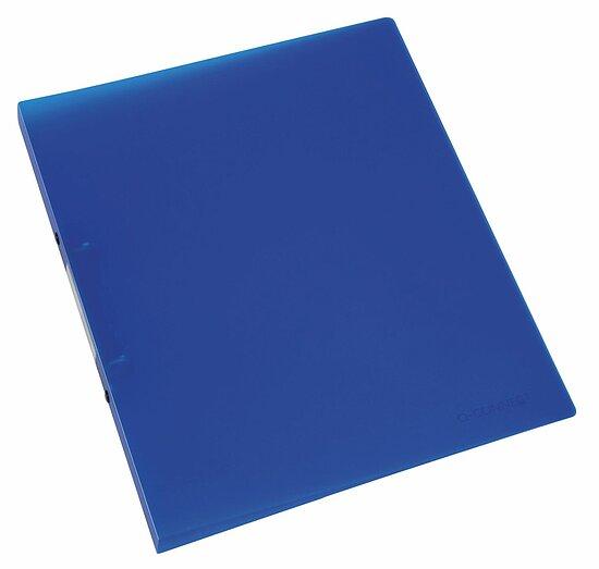 Q-Connect Ringmappe Ringbuch blau transparent A4 PP 4 Ringe 16mm Ordner Mappe