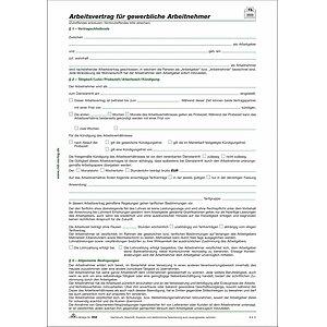 Rnk Verlag 50210 Arbeitsvertrag Für Gewerbliche