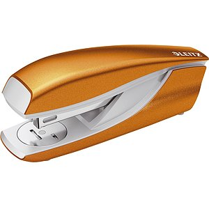 Leitz 55022044 5502 Büroheftgerät NeXXt, Metall, 30 Blatt, Blisterverp., orange metallic