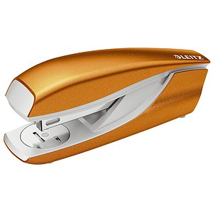 Leitz 5502-10-44 5502 Büroheftgerät NeXXt, Metall, 30 Blatt, orange metallic