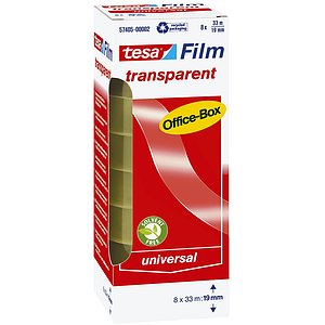 Tesa® 57405-00002-00 Klebefilm Office Box - transparent 8 St., Bandgröße (L x B): 33 m x 19 mm