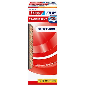 Tesa® 57371-00002-00 Klebefilm Office Box - transparent 10 St., Bandgröße (L x B): 33 m x 15 mm