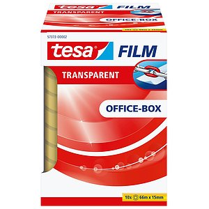 Tesa® 57372-00002-00 Klebefilm Office Box - transparent 10 St., Bandgröße (L x B): 66 m x 15 mm