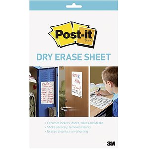 Post-it® SuperSticky DEFPackL-EU Dry Erase Schreibfolie - 27,9 x 39 cm, 15 Blatt