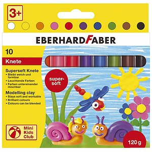 Eberhard Faber 572110 Mini Kids Club Supersoft Knete 10er