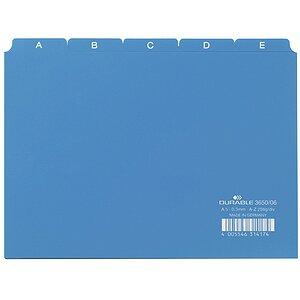 blau DIN A6 quer Durable Leitregister A-Z