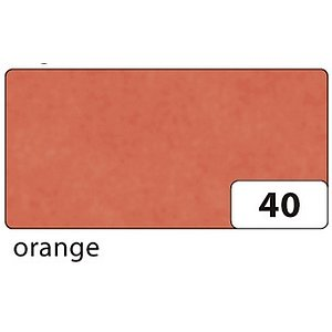 Folia 88120-40 Transparentpapier - orange, 70 cm x 100 cm, 42 g/qm