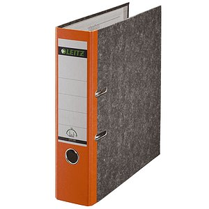 Leitz 1080-50-45 1080 Ordner A4 Wolkenmarmor, 80 mm, orange