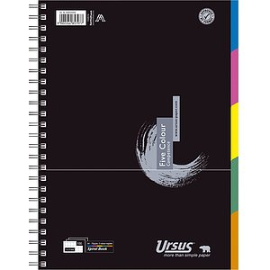 Ursus Basic 608555000 Collegeblock Five Colour A4 100 Blatt 70g/qm 5mm kariert