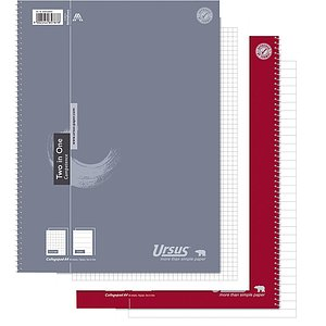 Ursus Basic 608558000 Collegeblock Two in One A4 80 Blatt 70g/qm kariert/liniert