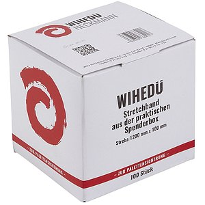 Wihedü 380401 Stretchband in Box - 10 x 120 cm, Folie transprent, 100 Stück