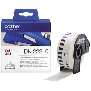 Brother DK22210 DK-Endlosetiketten Papier-Etiketten 29 mm x 30,48 m weiß