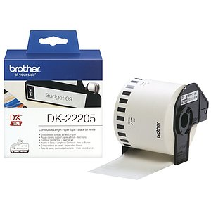 Brother DK22205 DK-Endlosetiketten Papier-Etiketten 62 mm x 30,48 m weiß