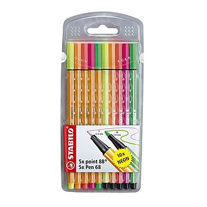 Stabilo® 8868/10-1 Fineliner / Premium-Filzstift STABILO® point 88® / Pen 68 Etui