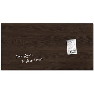 SIGEL Magnettafel Glas Dark-Wood GL259