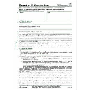 gefalzt auf DIN A4 Mietvertrag f/ür Garagen 4 Seiten