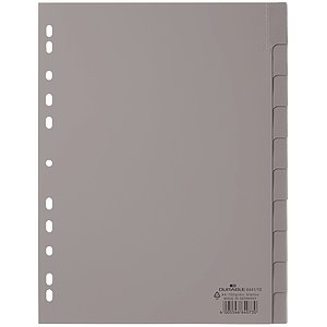 Durable 6441 10 Register - PP, blanko, grau, A4, 10 Blatt