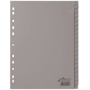 Durable 6443 10 Register - PP, blanko, grau, A4, 20 Blatt