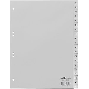 Durable 6510 10 Register - A - Z, PP, grau, A4, 20 Blatt