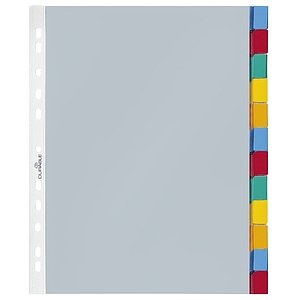 Durable 6633 19 Hüllenregister - Folie, blanko, transparent, A4, 12 Blatt