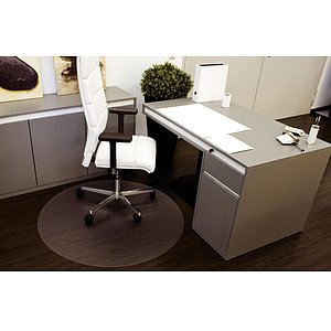 RS OFFICE PRODUCTS Bodenschutzmatte Ø 120cm