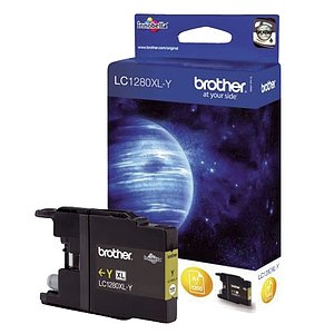Brother® LC1280XLY Brother® Inkjet-Druckpatronen yellow, 1.200 Seiten, LC1280XLY